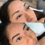Makeupomg Microblading before and after dark brows